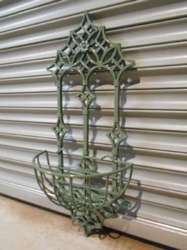 Sage Green Wrought Iron Wall Planter
